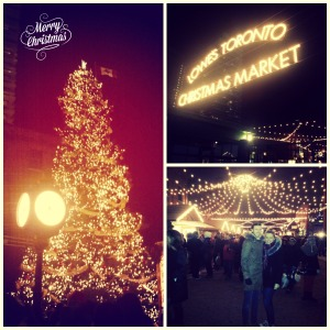 christmas market collage