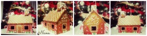ginger bread house collage